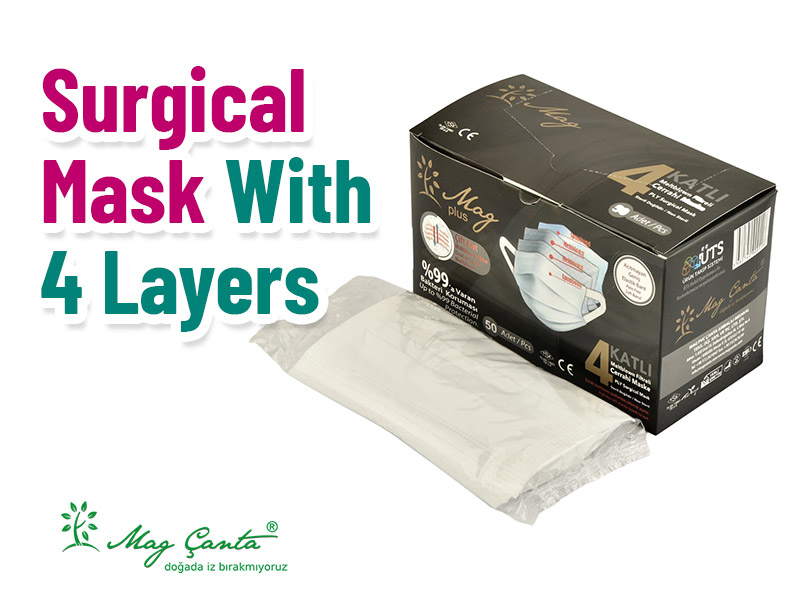 Surgical Mask With 4 Layers